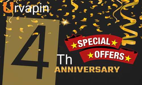 ECig Huge Savings with Special Offer at Urvapin 4th Anniversary