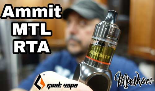 Geek Vape Ammit MTL RTA Review