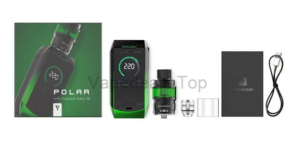 Vaporesso Polar 220w kit Package Includes