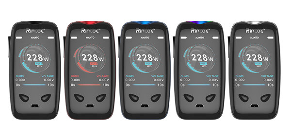 Rincoe Manto 228w TC Mod 5 Colors