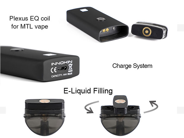 Innokin EQ Pod System Kit Coil, Charging and Filling