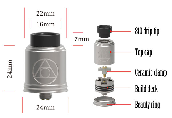 Blitz Hermetic RDA Specs and Components