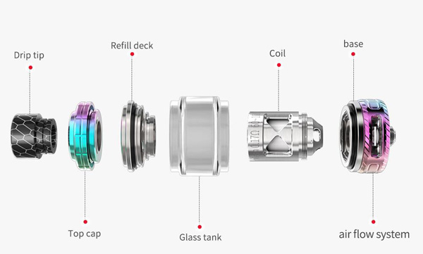Smoant Naboo Mesh Subohm Tank Exploded View