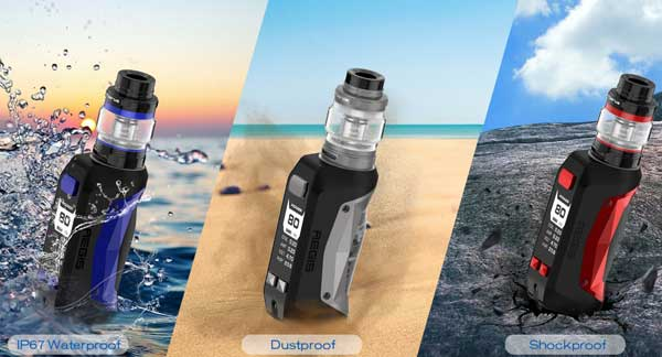 Geekvape Aegis Mini 80w Kit: waterproof, Dustproof, shockproof