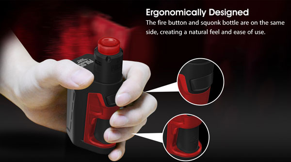 Vandy Vape Pulse Dual Squonker Kit: Ergonomically Design
