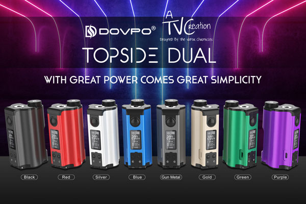DOVPO Topside 200W Dual 18650 Squonk Mod All colors