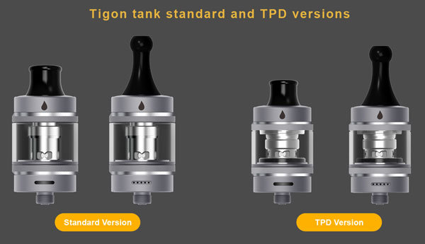 Aspire Tigon MTL/DTL Starter Kit 2 Versions