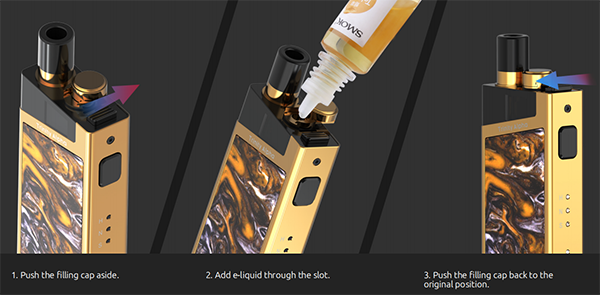 SMOK Trinity Alpha Pod Kit: How to Fill